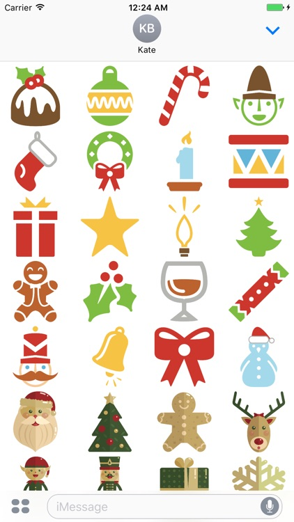 Christmas Stickers.Merry Christmas Stickers Pack For Imessage By Francesco Paradiso