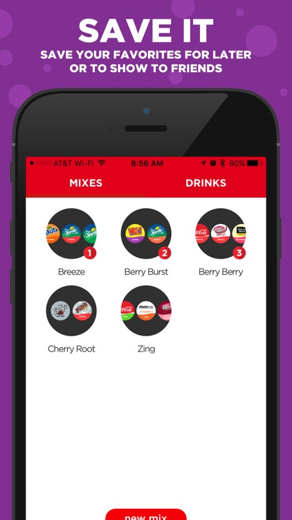 Coca-Cola Freestyle: discover & create drink mixes