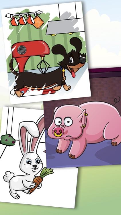 Paint pets in coloring book children screenshot-4