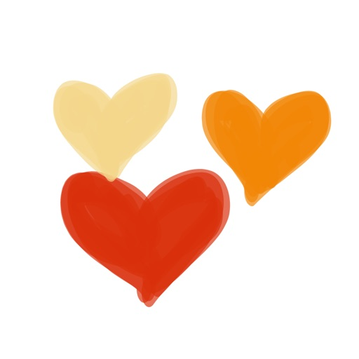 Fall Heart sticker, love you stickers for iMessage
