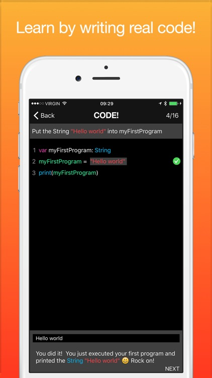 Code! Learn how to program - Swift Version screenshot-1