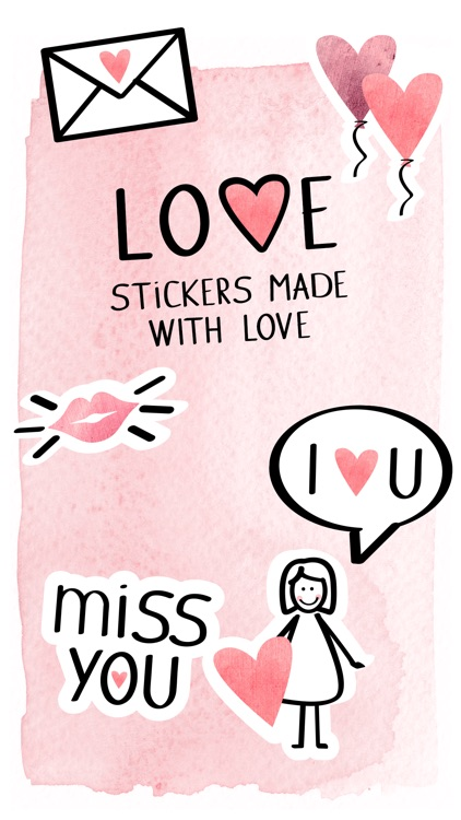 Love – Stickers made with love