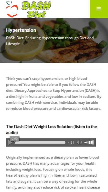 DASH Diet Plan for Healthy Weight Loss