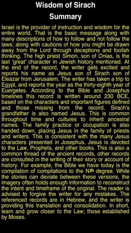 Summary Old Testament Apocrypha (Part 3)