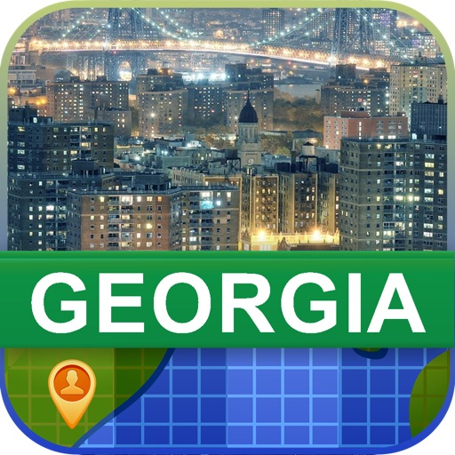 Offline Georgia, USA Map - World Offline Maps