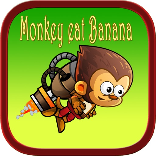 King kong eat banana jungle run games for kids iOS App