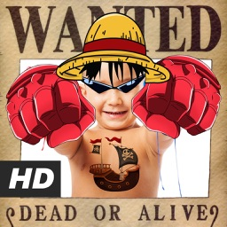Anime Face Stickers : Wanted One Pirate