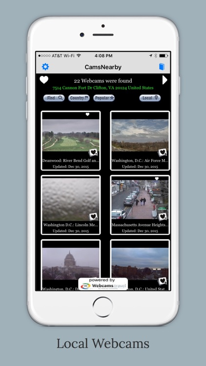 CamsNearby - Shows live webcams near your current location