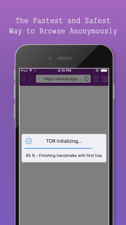 TOR-Powered Onion Web Browser - Anonymous Browsing screenshot-4