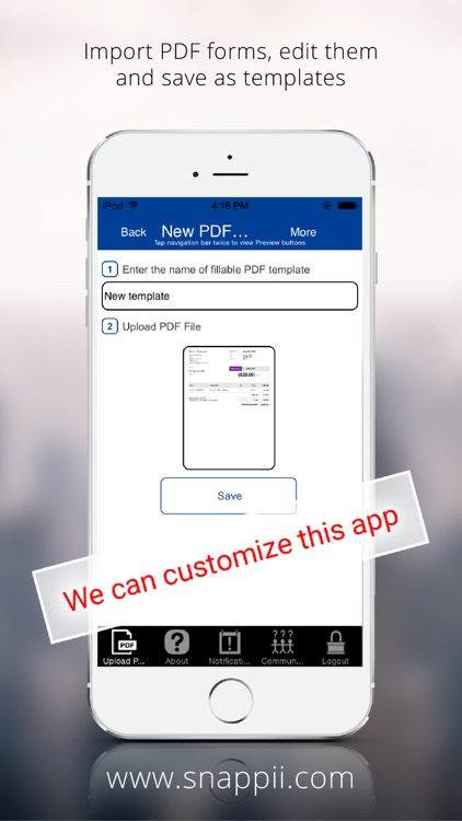 Government PDF Form Collection App