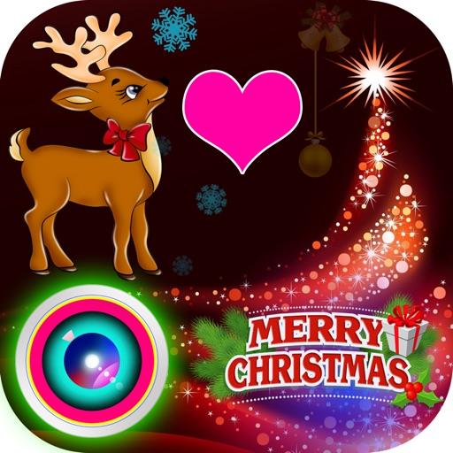 Lovely Christmas Photo Collage Art & Xmas Sticker