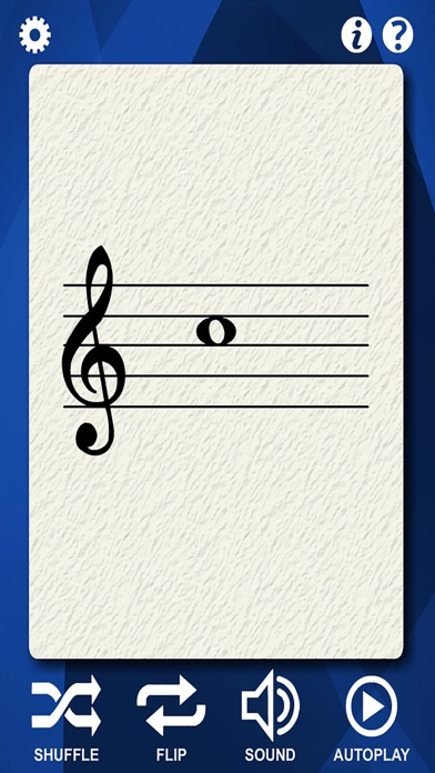 Guitar Notes Flash Cards screenshot one