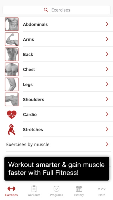 Screenshot for Full Fitness : Exercise Workout Trainer in United States App Store