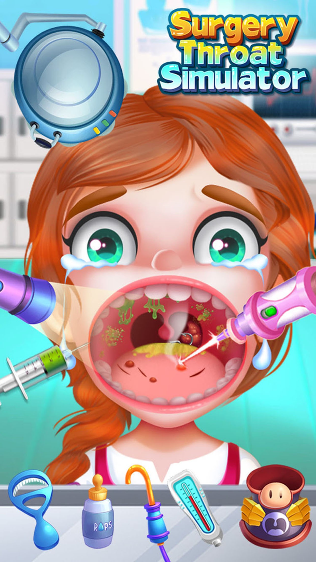 Throat Surgery Simulator - Free Doctor Game Screenshot