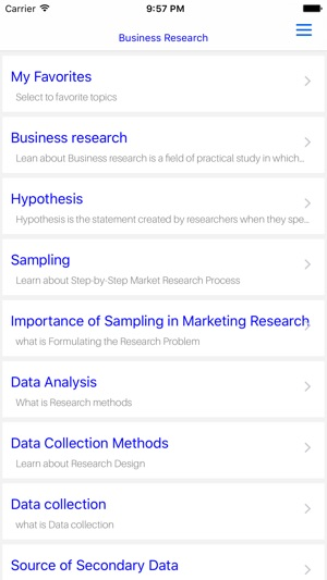 MBA Business Research