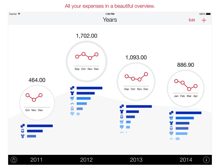 Next for iPad - Track your expenses and finances screenshot-0