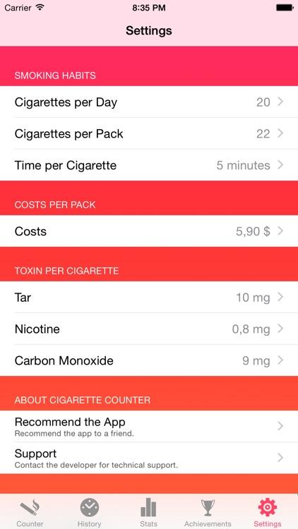 Cigarette Counter - How much do you smoke? screenshot-4