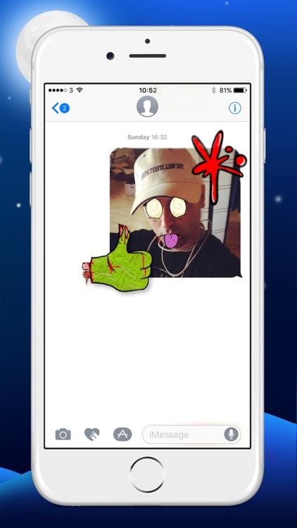 Zombie Yourself - Spooky Emoji Stickers screenshot-3