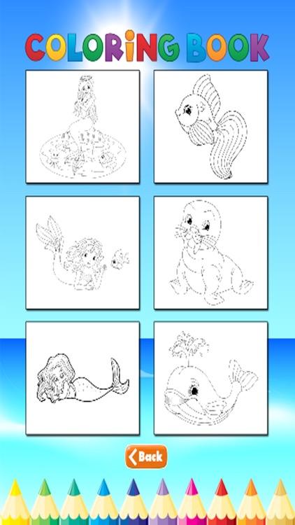 Mermaid Animal Coloring Book - for Kids screenshot-4