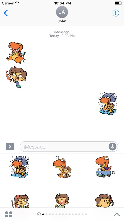 Justin and his Dinosaur sticker pack screenshot-3