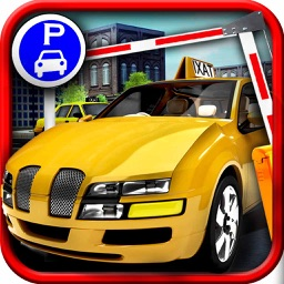 Super Taxi 3D Parking - Virtual Town Traffic Smash