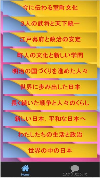 小学6年社会「日本の歴史」教科書リンク実力問題集スクリーンショット3