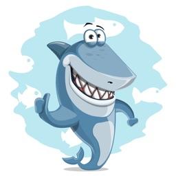Sharky Shark Stickers - The Great Blue Hunter