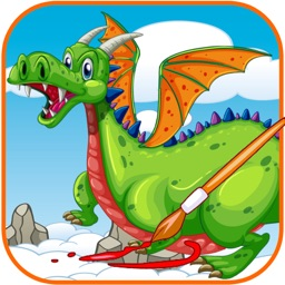 Dragon And Dinosaur Coloring Book For Kids