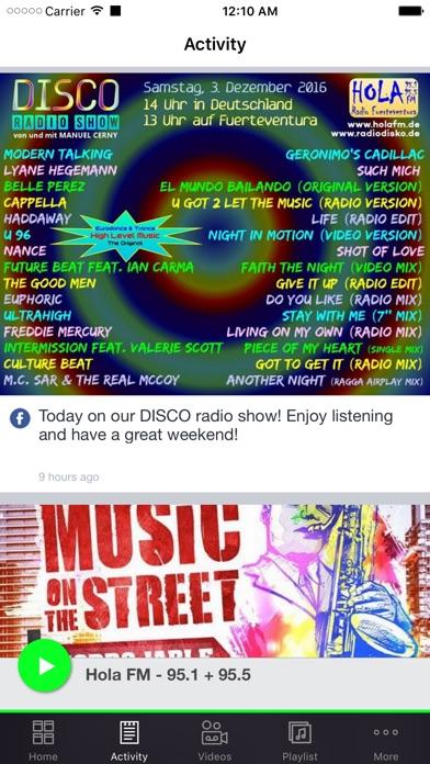 Hola FM - 95.1 + 95.5 Screenshot on iOS