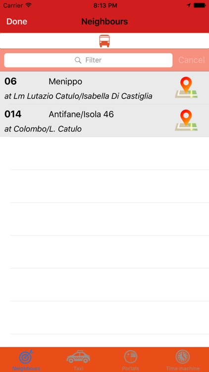 In Arrivo Express - buses and taxis on your map