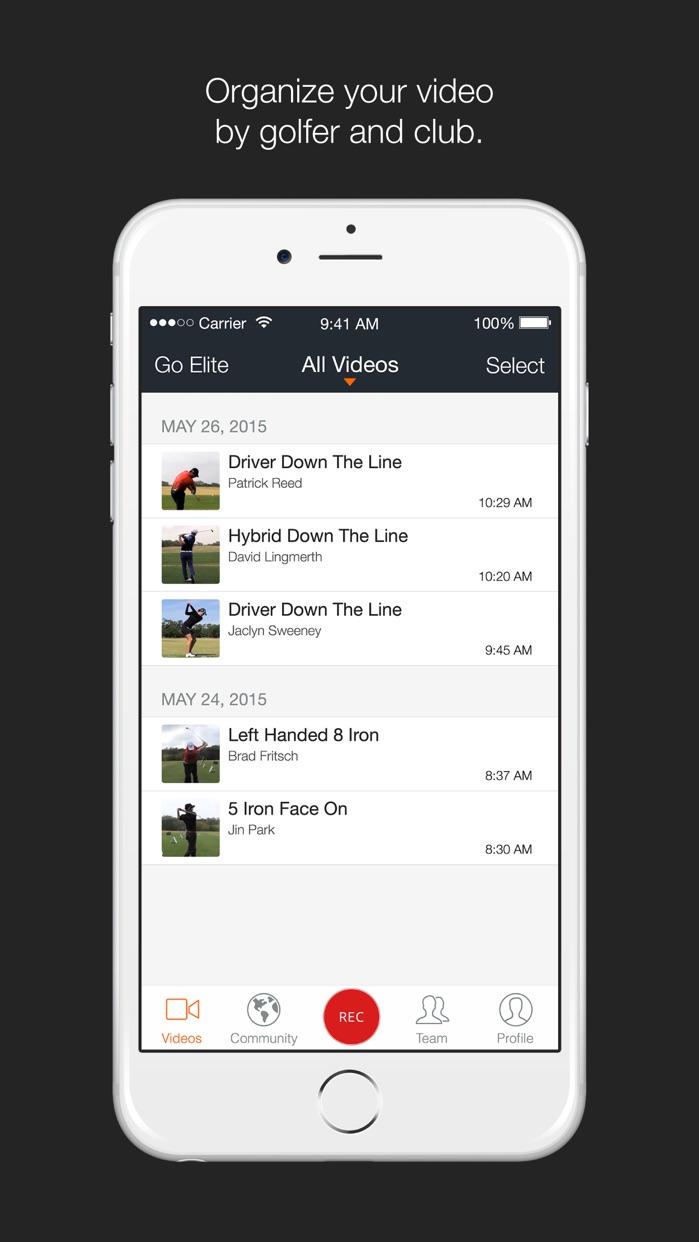 Hudl Technique Golf Screenshot