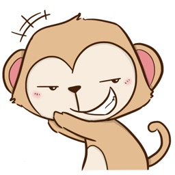 Cheaky Monkey Sticker