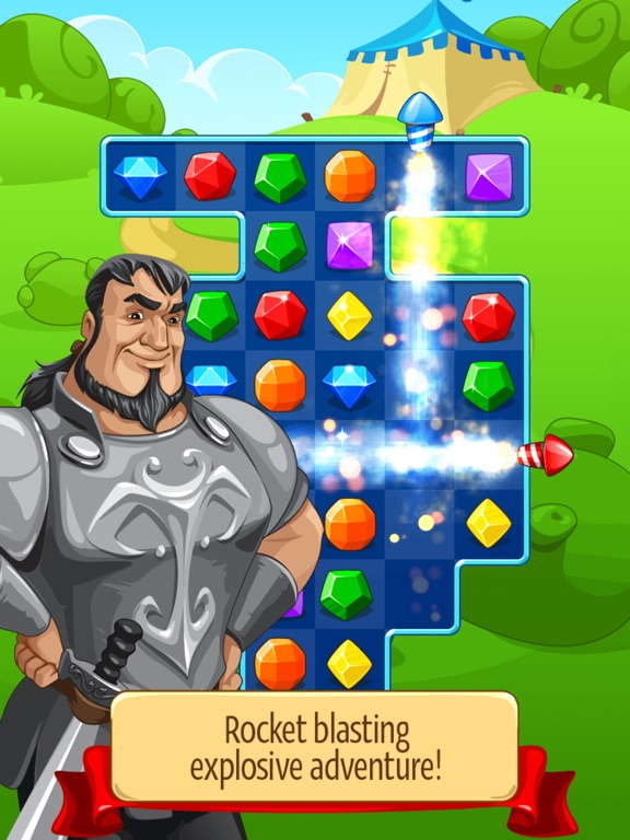 Screenshot #1 for Knight Girl - Match 3 Puzzle