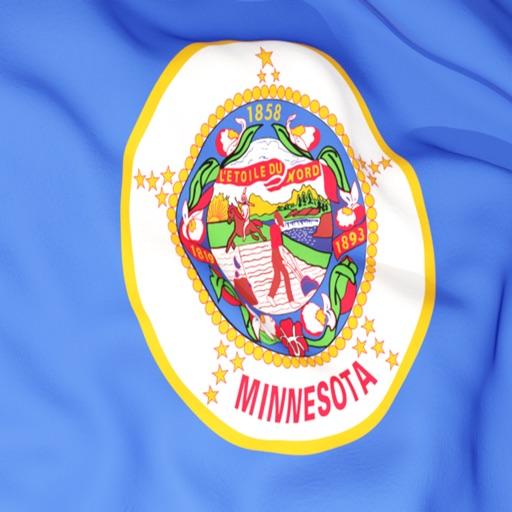 Minnesota Flag Stickers