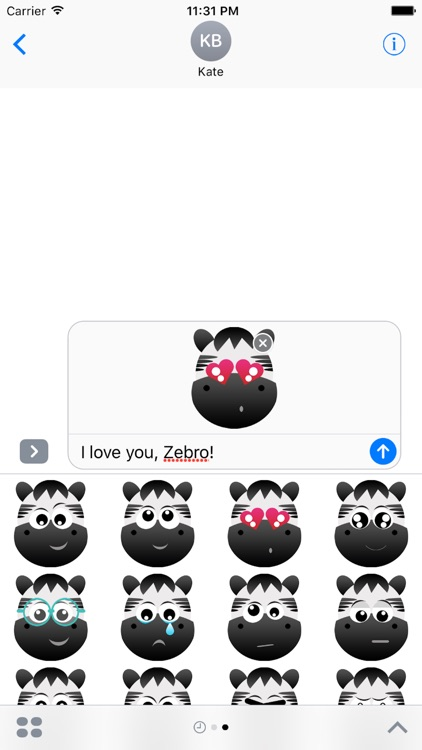 Zebro iMessage Sticker Pack