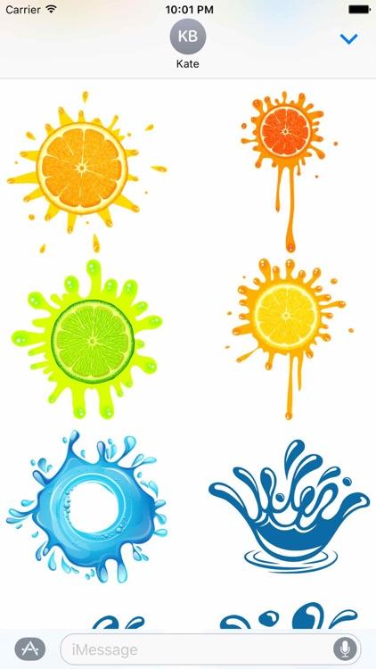 Colour Splash Stickers - Color Paint Splatter Set! screenshot-4