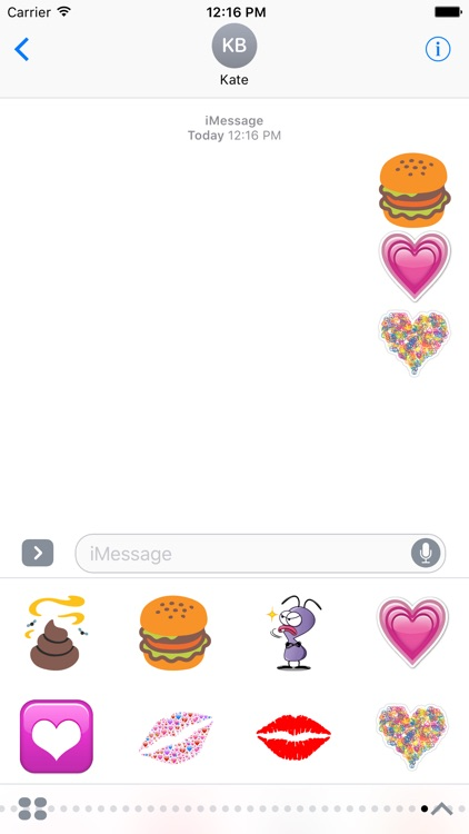 Emojis Stickers Pack For iMessage