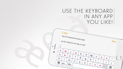 English Phonetic Keyboard with IPA symbols screenshot three