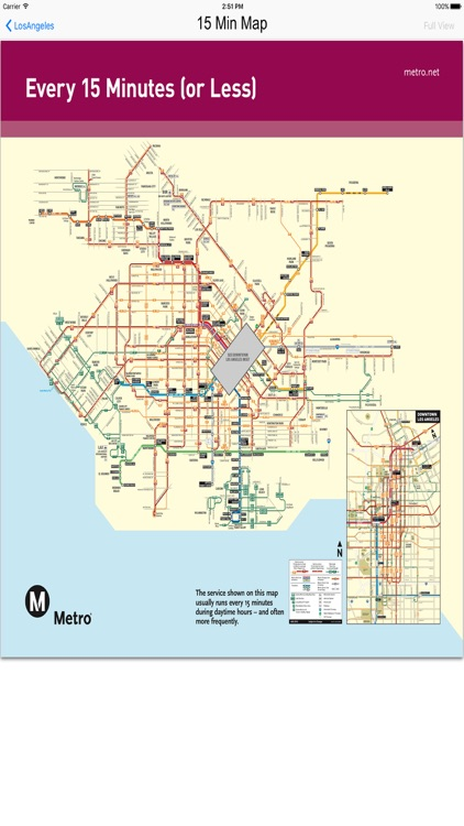 Los Angeles - Bus Rail Metro and Street View Maps screenshot-3