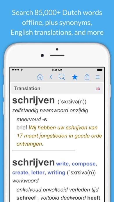 Dutch Dictionary & Thesaurus +English Translations screenshot one