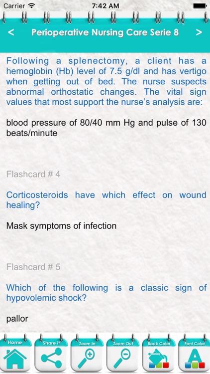 Perioperative Nursing Care 6700 Flashcards & Quiz screenshot-4