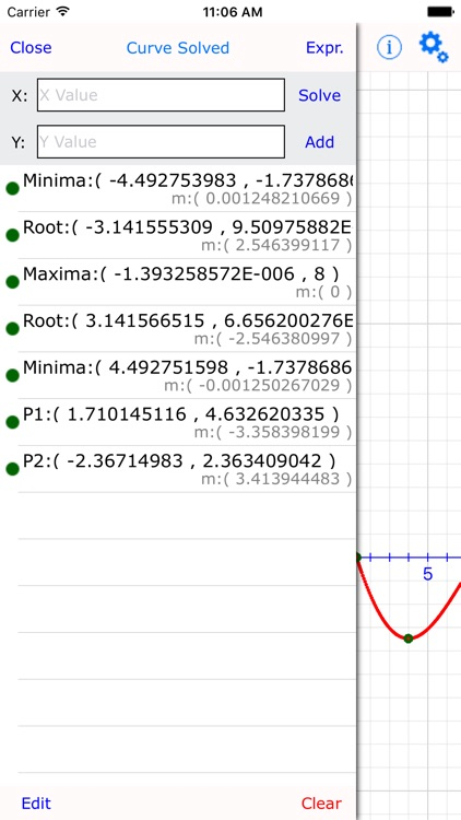 Curve Plot Graph Calculator