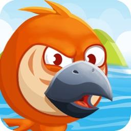 Naughty Grumpy Bird: Flappy Hippie Talking Parrot
