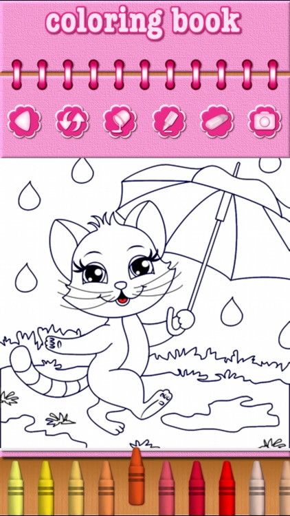 Cat Kitty Kitten Coloring Pages - Free Girl Games screenshot-3