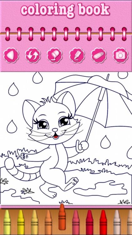 Cat Kitty Kitten Coloring Book screenshot-3