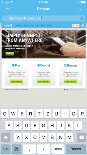 logmein console download