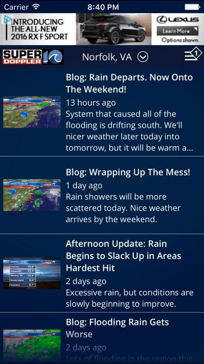 WAVY Weather - Norfolk Radar & Forecasts screenshot-3