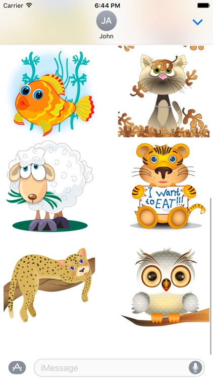 Funny zoo - cute stickers with animated animals screenshot-4
