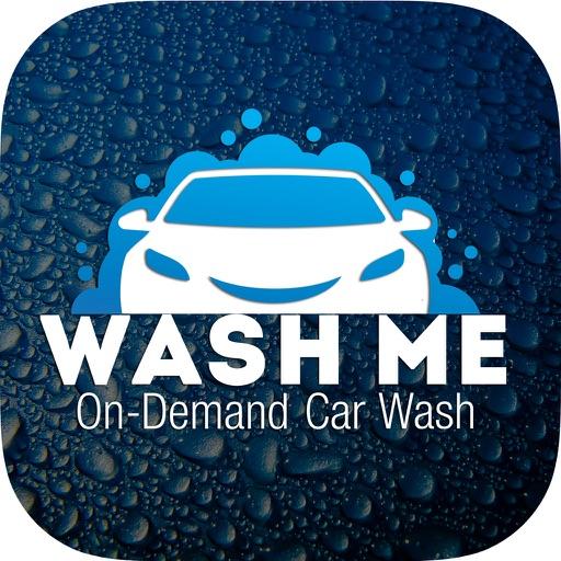 Inscription On Gl Of The Car Wash Me Stock Photo Image Vehicle