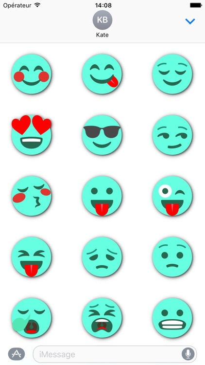 TURQUOISE Emoji • Stickers for iMessage